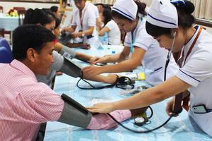 Chương trình tầm soát miễn phí biến chứng tim mạch cho bệnh nhân tăng huyết áp và tiểu đường tại Bệnh viện.